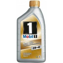 1L  Mobil1 New Life 0w40 sintētiskā motoreļļa - 0w-40