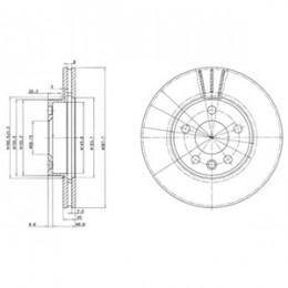 BG3770C  DELPHI bremžu diski - komplekts 2gab.