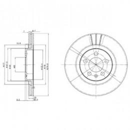 BG3036  DELPHI bremžu diski - komplekts 2gab.