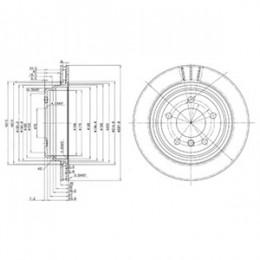 BG3042  DELPHI bremžu diski - komplekts 2gab.