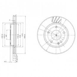 BG3395  DELPHI bremžu diski - komplekts 2gab.