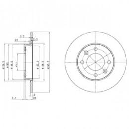 BG3653  DELPHI bremžu diski - komplekts 2gab.