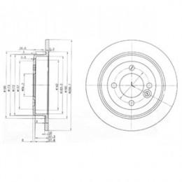 BG3662C  DELPHI bremžu diski - komplekts 2gab.