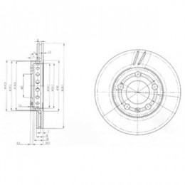 BG3695  DELPHI bremžu diski - komplekts 2gab.