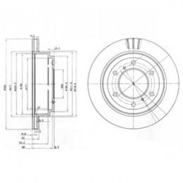 BG3813  DELPHI bremžu diski - komplekts 2gab.