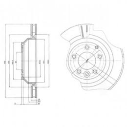 BG4070 DELPHI bremžu diski - komplekts 2gab.