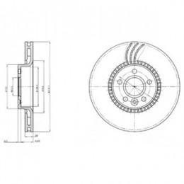 BG4123 DELPHI bremžu diski - komplekts 2gab.
