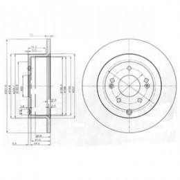 BG4136 DELPHI bremžu diski - komplekts 2gab.