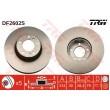 DF2602S TRW  bremžu disks
