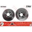 DF2660 TRW  bremžu disks