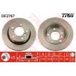 DF2767 TRW  bremžu disks