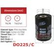 DO225/C Eļļas filtrs CLEAN FILTERS Italy (analogi OP531, 51452, OC116, W940/25 )
