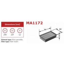 MA1172 Gaisa filtrs CLEAN FILTERS Italy (analogi AP051/1, WA6699, LX999, C30125/1 )