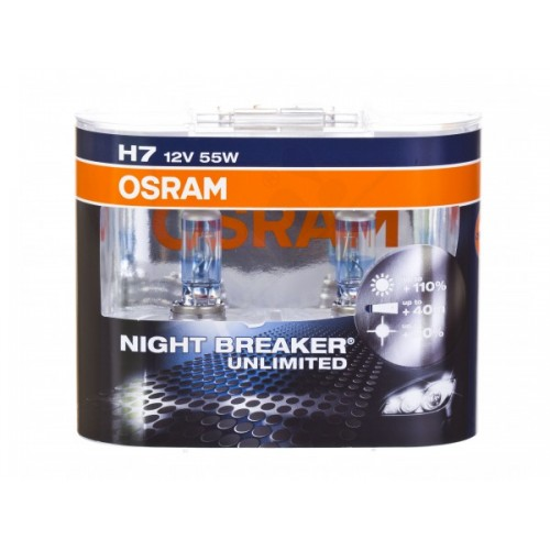 h7 osram 2gab night breaker unlimited 110 64210nbu. Black Bedroom Furniture Sets. Home Design Ideas