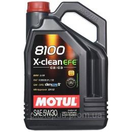 5L MOTUL 8100 X-clean EFE  5W30 C2/C3 sintētiska motoru eļļa GM Dexos2,  VW505.01 5w-30
