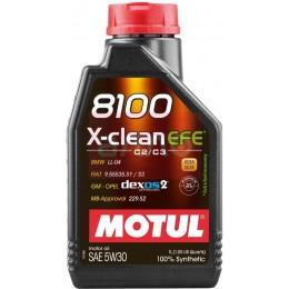 1L MOTUL 8100 X-clean EFE  5W30 C2/C3 sintētiska motoru eļļa GM Dexos2,  VW505.01 5w-30