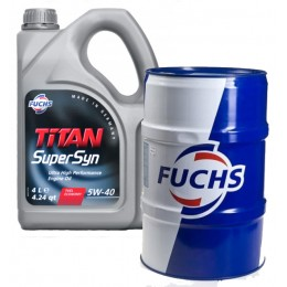 1L - 5w40 FUSCH TITAN SUPERSYN VW mobil 505.00 A3/B4 izlejamā motoreļļa 5w-40 + plastika trauks bezmaksā