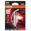 H1 OSRAM NIGHT BREAKER UNLIMITED +110% Blisters 64150NBU-HCB auto spuldze 12V H1 55W 12V P14.5S  halogēna lampa