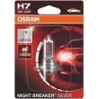 NEW H7 OSRAM NIGHT BREAKER SILVER +100% Blister 64210NBS-01B auto spuldze 12V H7 60/55W 12V halogēna lampa