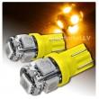 Dzeltena LED T10 auto spuldze 5d, W5W ,  5 diožu lampa gabarita lukturiem un salonam