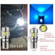 W5W Zila - T10  LED 6 diožu CANBUS auto spuldze. Aluminijas korpusā, Lampa gabarita lukturiem un salonam
