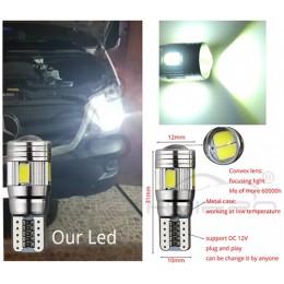 W5W balta - T10  LED 6 diožu CANBUS auto spuldze, Aluminijas korpusā, Lampa gabarita lukturiem un salonam