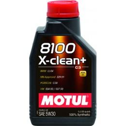 1L MOTUL 8100 X-clean+ 5W30 C3 sintētiska motoru eļļa BMW LL-04, MB229.51, VW504.00-507  MT854751 5w-30