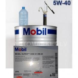 5w40 MOBIL 3000 X1 - 1 Litrs - Izlejamā sintētiska motoreļļa 5w-40 +  izlejamā KLIENTA TRAUKĀ