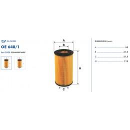 OE648/1 Eļļas filtrs FILTRON (analogi WL7228, OX153D1, HU718/1n)