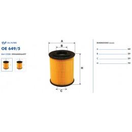 OE649/5 Eļļas filtrs FILTRON (analogi WL7283, OX156D, HU818x)