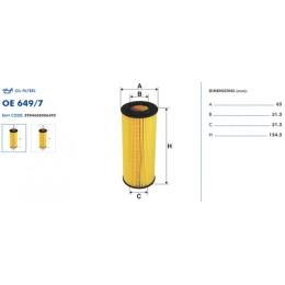 OE649/7 Eļļas filtrs FILTRON (analogi WL7303, OX368D, HU722x)