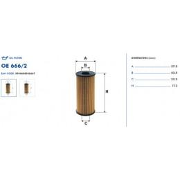 OE666/2 Eļļas filtrs FILTRON (analogi OX441, HU618x)