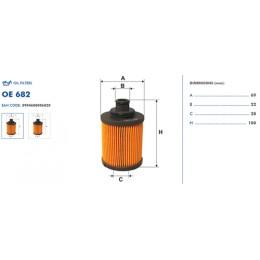 OE682 Eļļas filtrs FILTER (analogi WL7429, OX418D, HU712/7x)