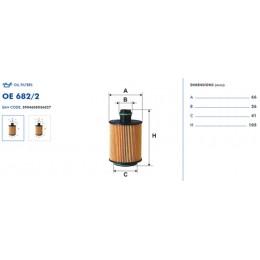 OE682/2 Eļļas filtrs FILTRON (analogi WL7464, OX553D, ADW192102, HU712/11x)