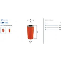 OM610 Eļļas filtrs FILTRON (analogi 93229, OX123, HU951x)
