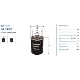OP525/3 Eļļas filtrs FILTRON (analogi WL7217, OC262, W830/1)