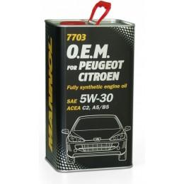 1L - 5W30 7703 O.E.M. for Peugeot Citroen C2 C3 A5 B5 MANNOL sintetiskā motoreļļa