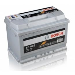 77Ah, 780A, 12V  Akumulators BOSCH S5008 (-+) 278x175x190mm