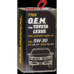 4L - 5W30 7709 O.E.M. for Toyota Lexus MANNOL sintetiskā motoreļļa