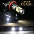 H11 balta LED CANBUS 27 diožu auto spuldze pretmiglas lukturiem
