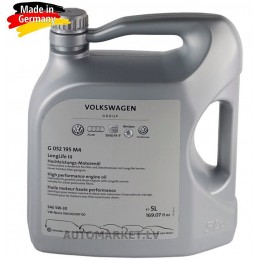 5L 5W30 VW AUDI Origināla VAG motoreļļa (Ražota CASTROL Vācija) priekš VW AUDI SKODA SEAT ( VW 504- 507.00 LONGLIFE  LL III 5w-30 )