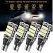 W16W - T15 balta LED 45 diožu CANBUS super spilgta auto spuldze - 1gab. Lampa gabarita lukturiem un salonam