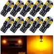 W5W oranža WY5W 12V - T10 LED 8 diožu CANBUS auto spuldze. Lampa gabarita lukturiem un salonam