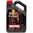 5L MOTUL 8100 X-clean 5W40 C3 sintētiska motoru eļļa MB229.51, VW505.1 5w-40