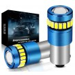 H10W 12V BA9S LED balta 18+1 diožu CANBUS auto spuldze gabarita lukturiem